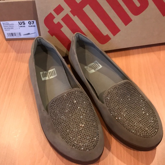 195642140f3edf Fitflop 🌴 Sparkly Sneakerloafer - Desert Stone